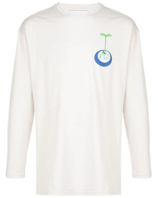 メンズ Henrik Vibskov Sprouting プリント Tシャツ White