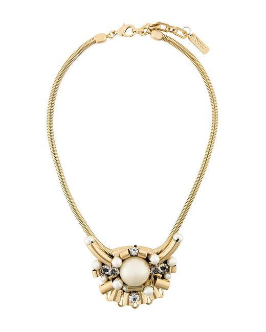 Rada' - Metallic Oversized Pendant Short Necklace - Lyst