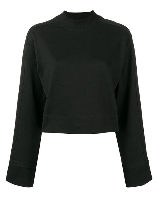 Y-3 クロップド スウェットシャツ Black