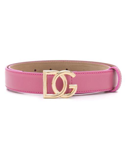 Dolce & Gabbana ロゴ ベルト Pink