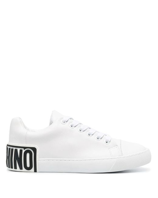 Moschino White Rear Logo Low-top Sneakers