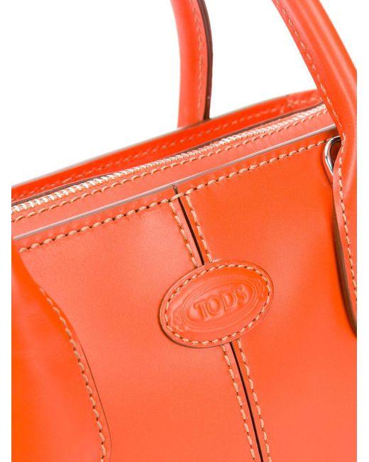 Tod's ロゴパッチ ハンドバッグ Orange