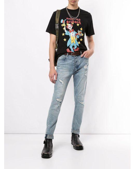 メンズ Martine Rose Promising Britain Clown Tシャツ Black