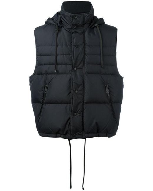 AMI | Black Sleeveless Down Jacket for Men | Lyst