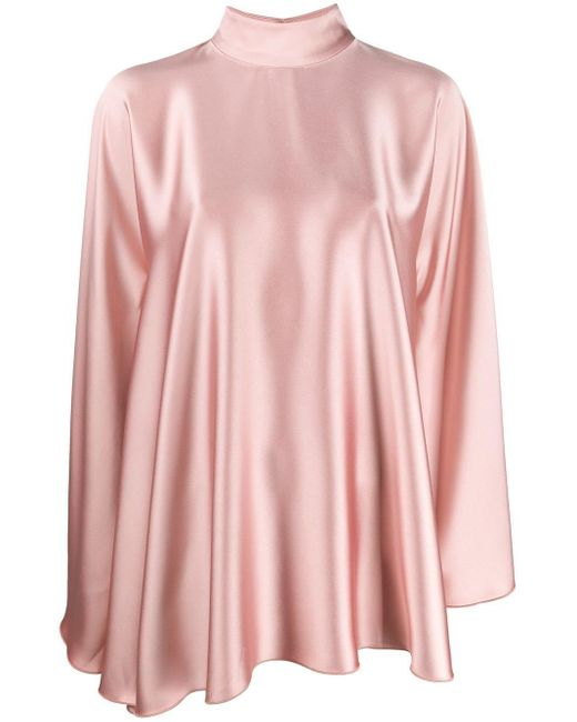 Styland ハイネック ドレープドレス Pink