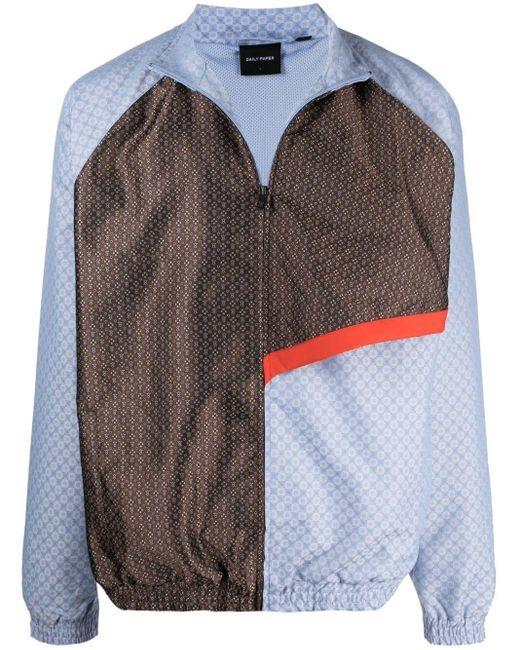 メンズ Daily Paper コントラストパネル ボンバージャケット Multicolor