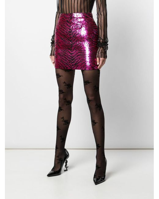Saint Laurent ゼブラパターン スカート Pink