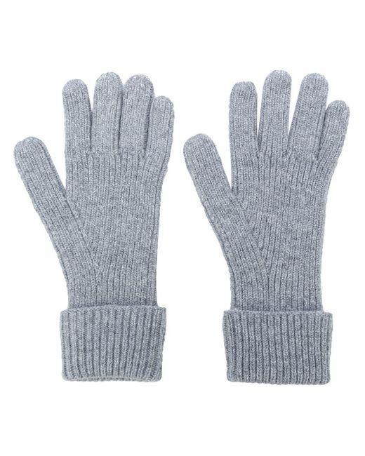 Перчатки В Рубчик N.Peal Cashmere для него, цвет: Gray