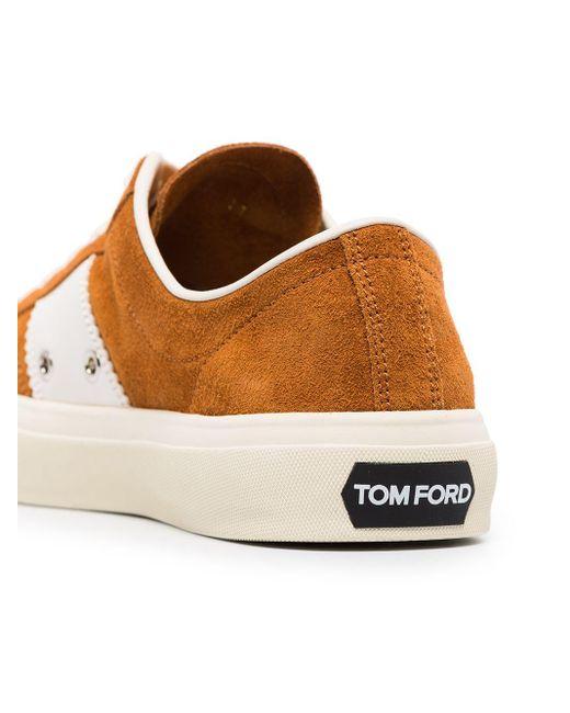 メンズ Tom Ford Cambridge スエード スニーカー Brown