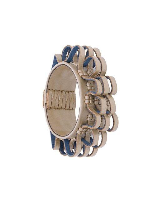 Papieta - Metallic Curly Loop Bracelet - Lyst