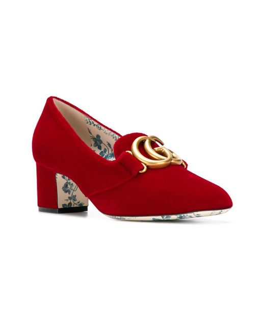 b4e9ea8470a ... Gucci - Red Heeled Loafers - Lyst ...
