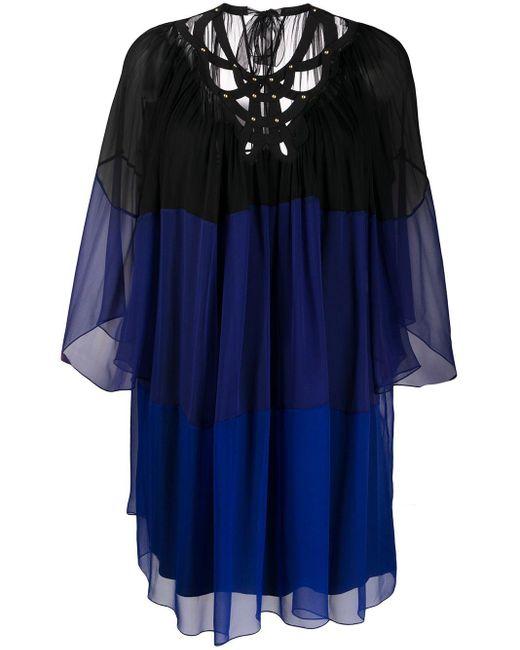 Alberta Ferretti シアー シフトドレス Blue