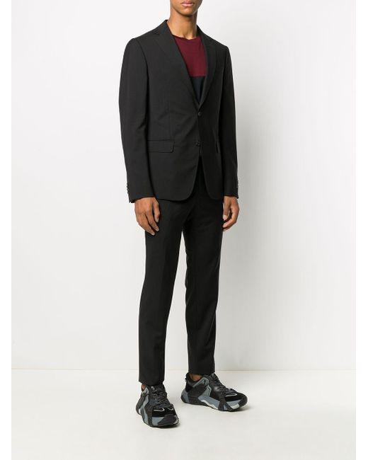 メンズ Z Zegna シングル ツーピーススーツ Black