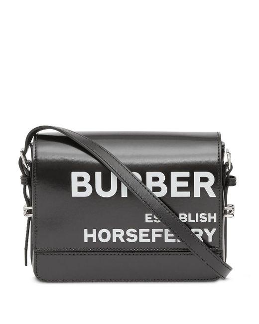 Маленькая Сумка Через Плечо Grace С Принтом Horseferry Burberry, цвет: Black