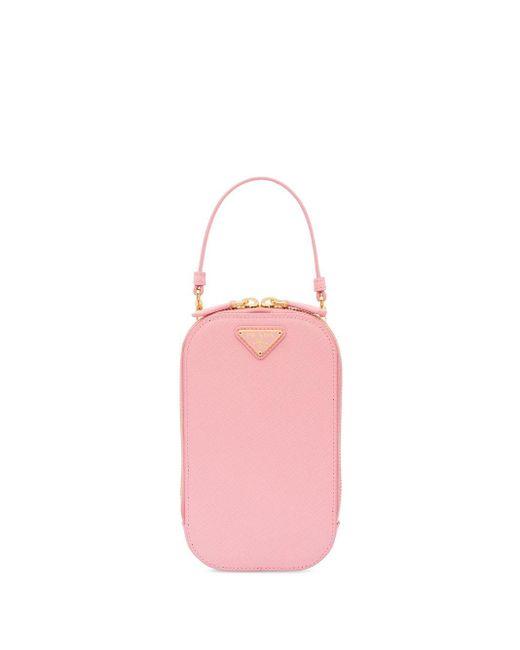 Prada サフィアーノレザー ミニバッグ Pink