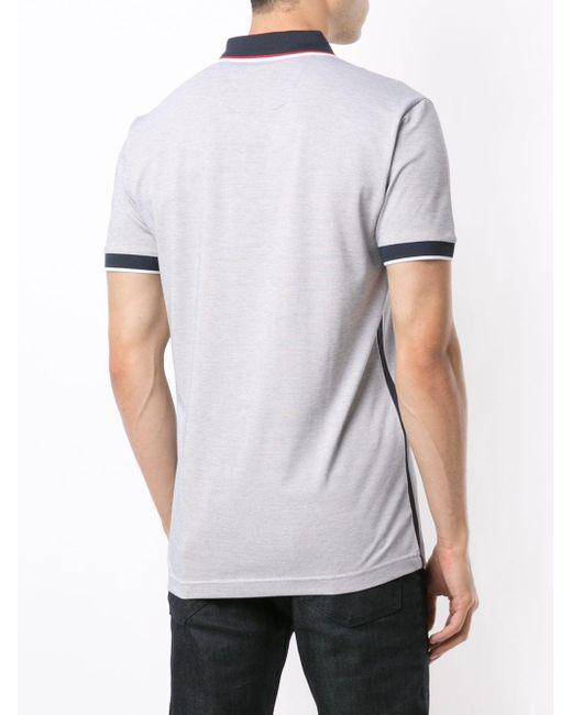 メンズ BOSS by Hugo Boss ストライプトリム ポロシャツ White
