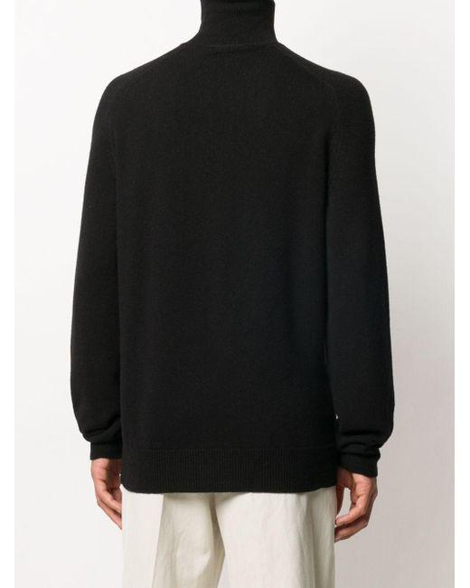 Джемпер С Высоким Воротником Bottega Veneta для него, цвет: Black