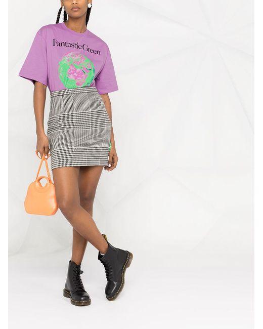 MSGM Purple Graphic-print T-shirt