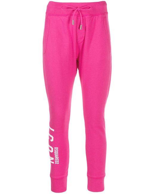 DSquared² ロゴ トラックパンツ Pink