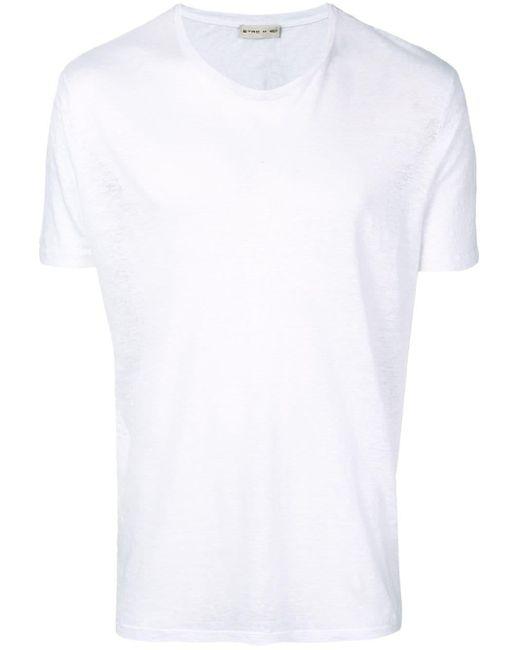 メンズ Etro リネン Tシャツ White