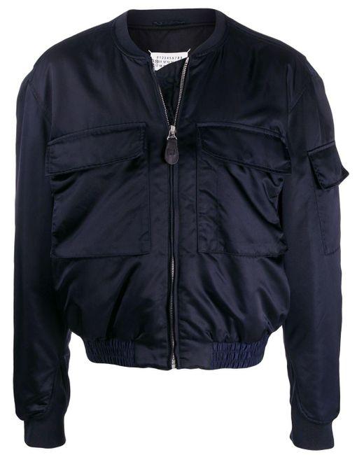 メンズ Maison Margiela セール新登場|ジップ ボンバージャケット Blue