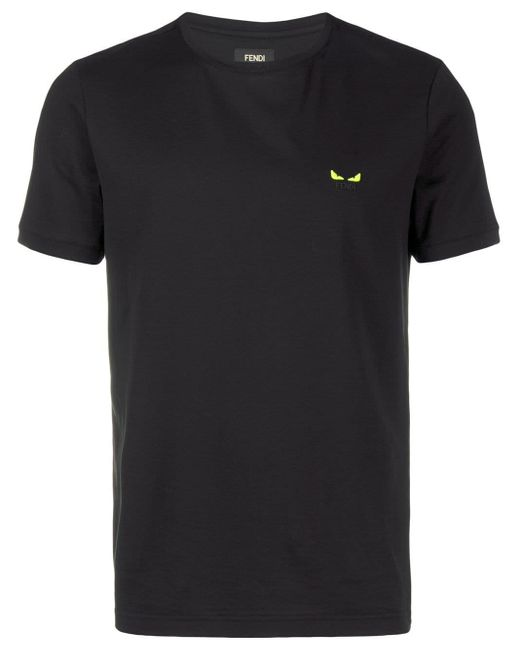 メンズ Fendi バッグバグズ Tシャツ Black
