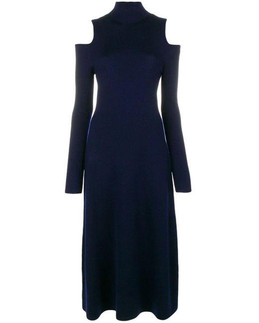 Gabriela Hearst Silveira Knitted Dress Blue