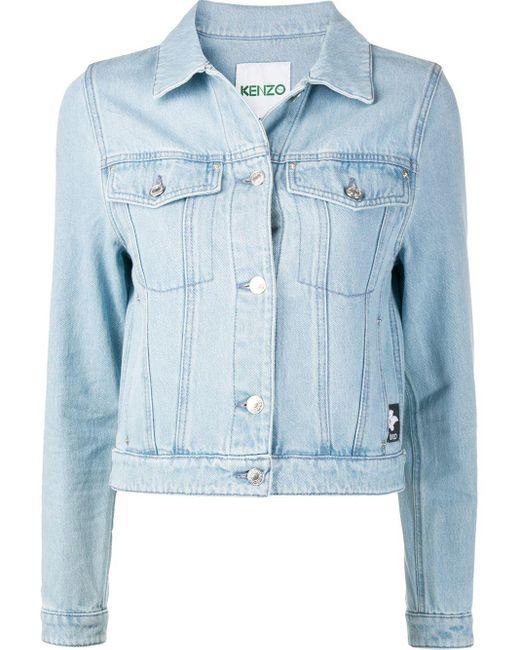 KENZO Blue Jeansjacke mit Logo-Patch