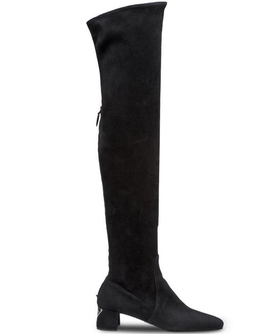 186983b8c82 Prada - Black Over-the-knee Boots - Lyst ...