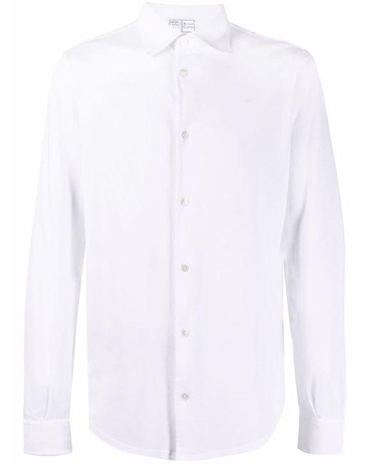 メンズ Fedeli ボタン シャツ White