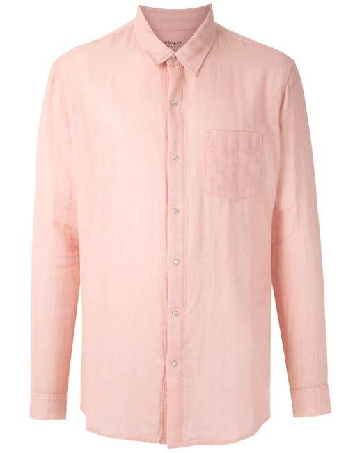 メンズ Osklen ロングスリーブ シャツ Pink