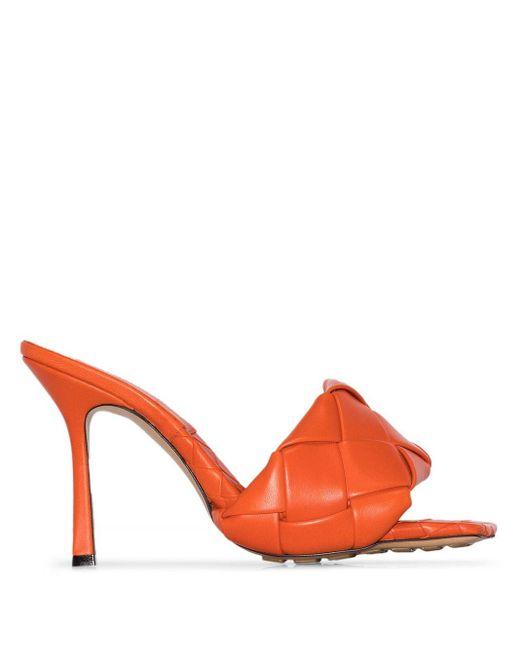Bottega Veneta Bv リド イントレチャート 95 サンダル Orange