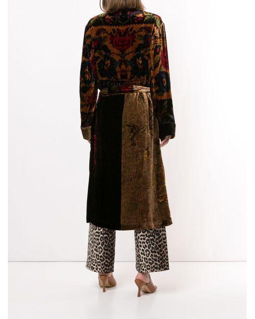 Pierre Louis Mascia Multicolor Floral-print Tie-waist Coat