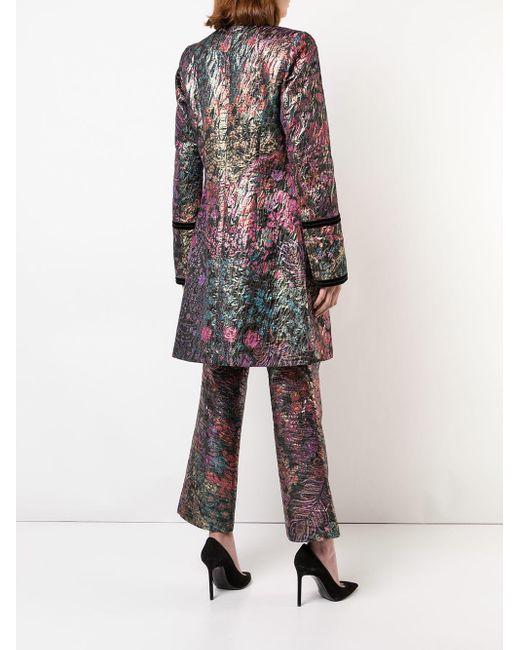 Natori ジャカード コート Multicolor