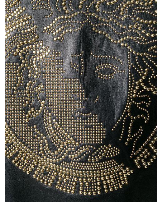 Chaqueta con aplique Medusa Versace de hombre de color Black
