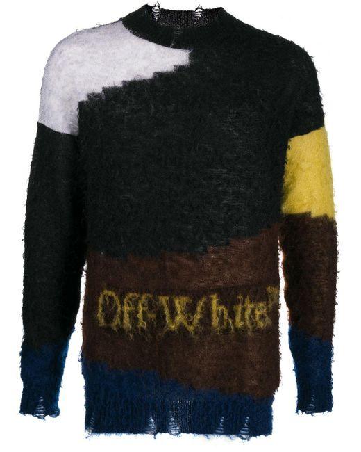 Джемпер В Стиле Колор-блок Off-White c/o Virgil Abloh для него, цвет: Gray