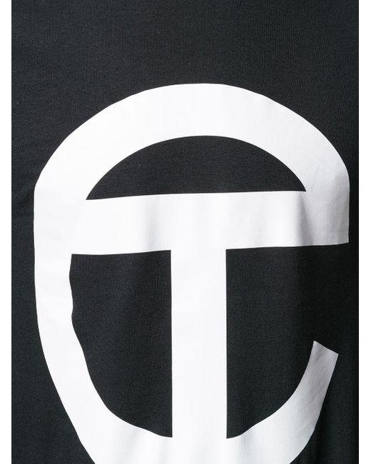 Telfar ロゴ ロングラインtシャツ Black