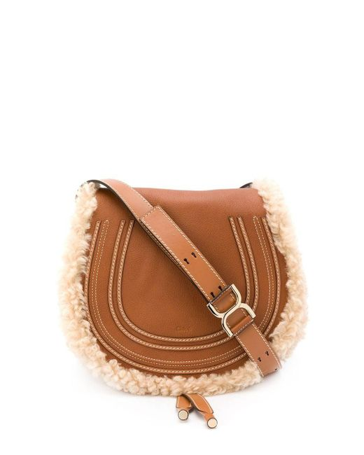 Chloé Marcie ショルダーバッグ Brown