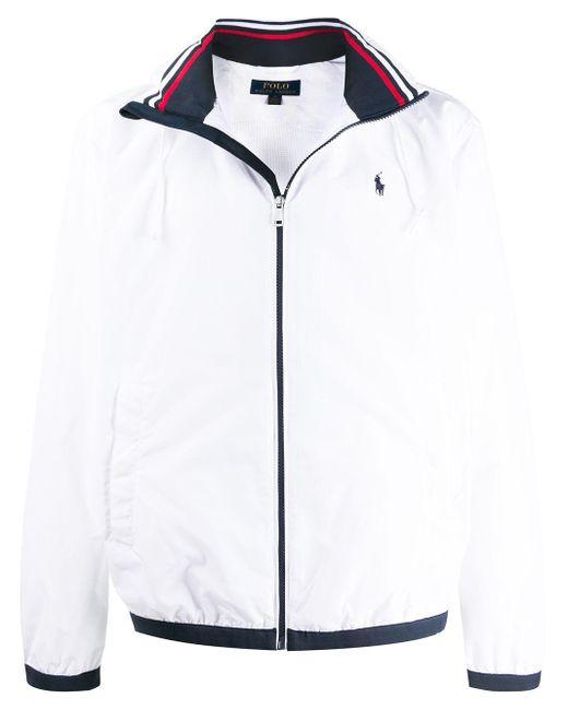 メンズ Polo Ralph Lauren ロゴ フーデッドジャケット White