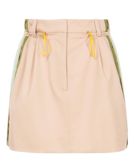 Peter Pilotto - Natural Cady Mini Skirt - Lyst