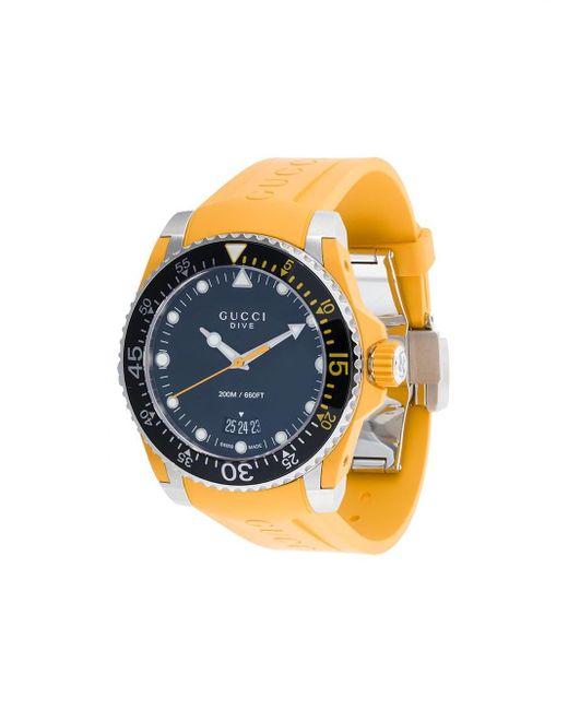 メンズ Gucci グッチ ダイヴ 腕時計 Multicolor