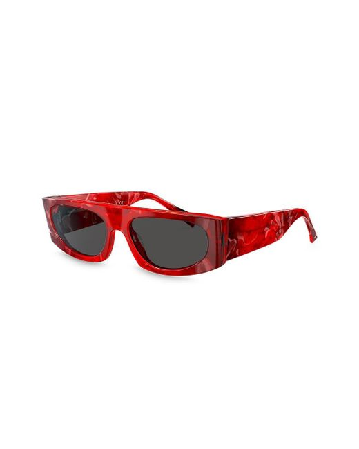 Alain Mikli Women's Red Square Shaped Sunglasses