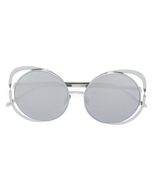 Linda Farrow - Metallic Cat Eye Sunglasses - Lyst