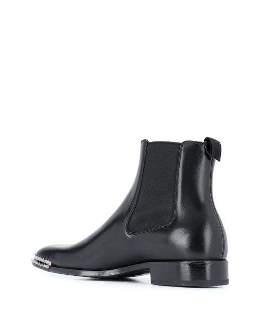 メンズ Givenchy ロゴプレート チェルシーブーツ Black