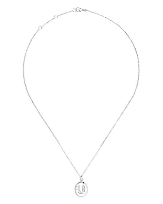 Annoushka ダイヤモンド U ネックレス 18kホワイトゴールド Metallic