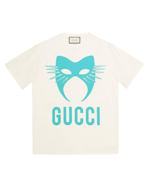 メンズ Gucci Manifesto Tシャツ Blue