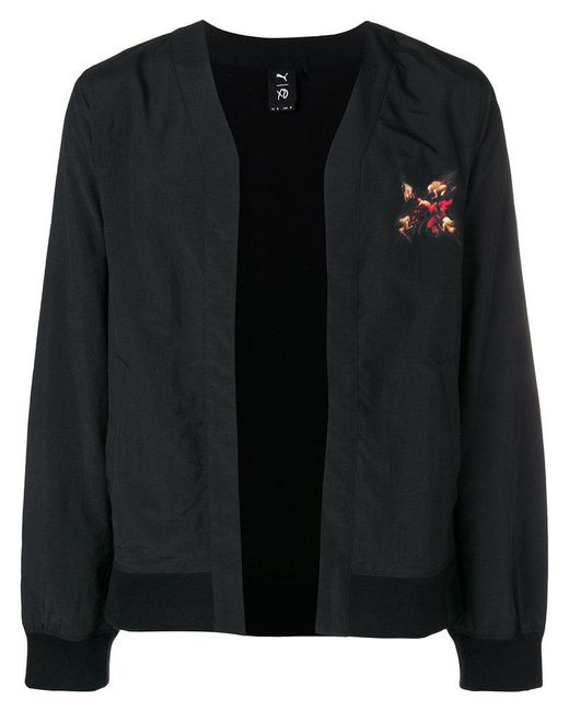 PUMA - Black Back Print Bomber Jacket for Men - Lyst