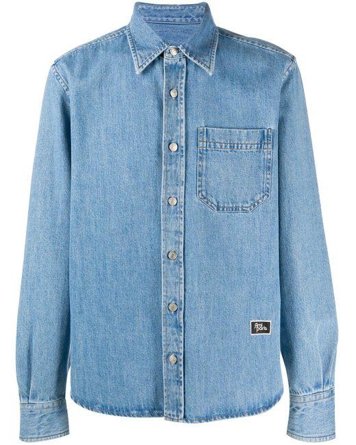 メンズ AMI デニムシャツ Blue