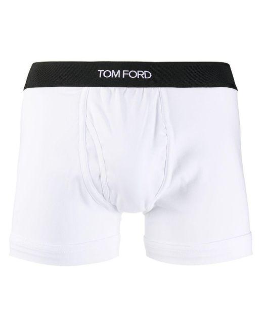 メンズ Tom Ford ロゴ ボクサーパンツ White