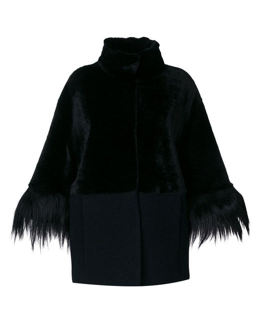 DROMe - Black High Neck Coat - Lyst